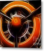 Plane - All Orange Metal Print by Paul Ward