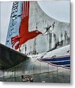 Plane Tail Wing Eastern Air Lines Metal Print by Paul Ward