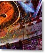 Play It Again Sam Digital Guitar And Banjo Art By Steven Langston Metal Print by Steven Lebron Langston