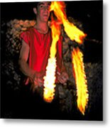 Playing With Fire Metal Print by Carl Purcell