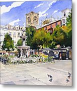 Plaza Bib Rambla Metal Print by Margaret Merry