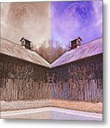 Pleasant View Country Barns Metal Print by Betsy C Knapp