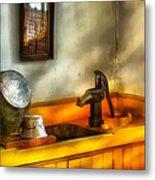 Plumber - The Wash Basin Metal Print by Mike Savad