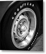 Plymouth Cuda Rallye Wheel Metal Print by Paul Velgos