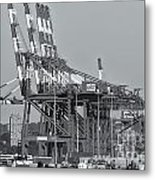 Pnct Facility In Port Newark-elizabeth Marine Terminal II Metal Print by Clarence Holmes