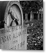 Poe's Original Grave Metal Print by Jennifer Ancker