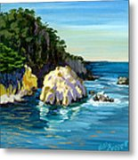Point Lobos Rock Metal Print by Alice Leggett