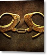 Police - Handcuffs Aren't Always A Bad Thing Metal Print by Mike Savad