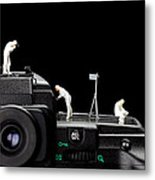 Police Investigate On A Camera Metal Print by Paul Ge
