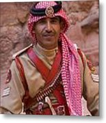 Policeman In Petra Jordan Metal Print by David Smith