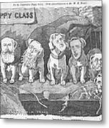 Political Puppy Class Metal Print by Konni Jensen