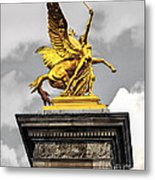 Pont Alexander IIi Fragment In Paris Metal Print by Elena Elisseeva