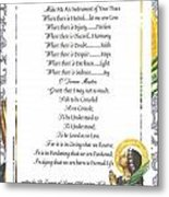 Pope Francis St. Francis Simple Prayer Purity Metal Print by Desiderata Gallery