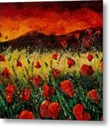 Poppies 68 Metal Print by Pol Ledent