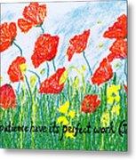 Poppies Metal Print by Catherine Saldana