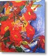 Poppies Gone Wild Metal Print by Sherry Harradence