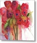 Poppies Metal Print by Sherry Harradence