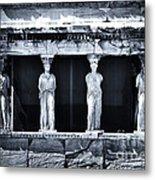 Porch Of The Caryatids Metal Print by John Rizzuto