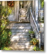 Porch - Westfield Nj - Grannies Porch  Metal Print by Mike Savad