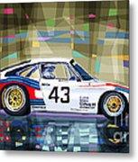 Porsche 935 Coupe Moby Dick Metal Print by Yuriy  Shevchuk
