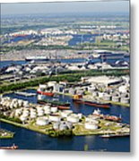 Port Of Amsterdam, Amsterdam Metal Print by Bram van de Biezen