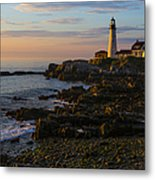 Portland Head Lighthouse At Dawn Metal Print by Diane Diederich
