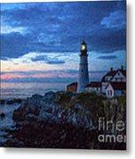 Portland Head Lighthouse Metal Print by Diane Diederich