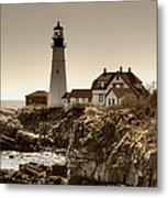 Portland Head Lighthouse Metal Print by Joann Vitali