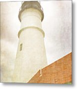 Portland Head Lighthouse Maine Metal Print by Carol Leigh