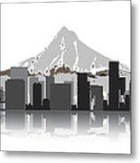 Portland Oregon Skyline 2 Metal Print by Daniel Hagerman
