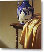 Portland Vase With Cloth Metal Print by Barbara Groff