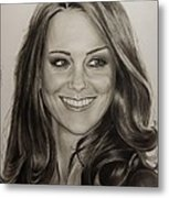 Portrait Kate Middleton Metal Print by Natalya Aliyeva