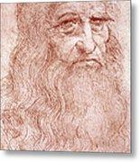 Portrait Of A Bearded Man Metal Print by Leonardo da Vinci