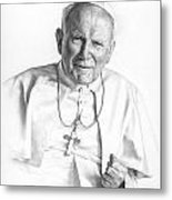Portrait Of A Saint Metal Print by Smith Catholic Art