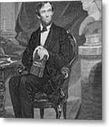 Portrait Of Abraham Lincoln Metal Print by Alonzo Chappel