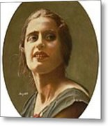 Portrait Of Ayn Rand Metal Print by Robert Tracy