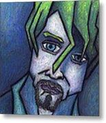 Portrait Of Kurt Metal Print by Kamil Swiatek