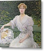 Portrait Of Marguerite Durand Metal Print by Jules Cayron