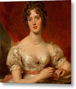 Portrait Of Mary Anne Bloxam Metal Print by Thomas Lawrence