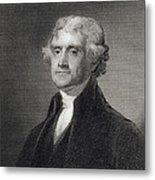 Portrait Of Thomas Jefferson Metal Print by Henry Bryan Hall