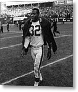 Jim Brown Metal Print by Retro Images Archive