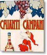 Poster Advertising Chianti Campani Metal Print by Necchi