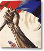 Poster For Liberation Of France From World War II 1944 Metal Print by Anonymous