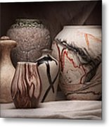 Pottery Still Life Metal Print by Tom Mc Nemar