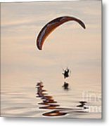 Powered Paraglider Metal Print by John Edwards
