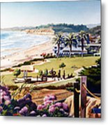 Powerhouse Beach Del Mar Lilac Metal Print by Mary Helmreich