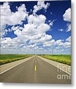 Prairie Highway Metal Print by Elena Elisseeva