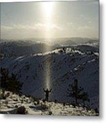 Praise In The Snowies Metal Print by Aaron S Bedell