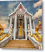 Pranburi Temple Metal Print by Adrian Evans