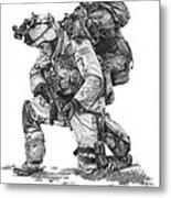 Praying  Soldier  Metal Print by Murphy Elliott
